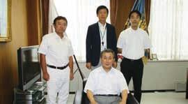 防衛医大長谷和生学校長への表敬訪問